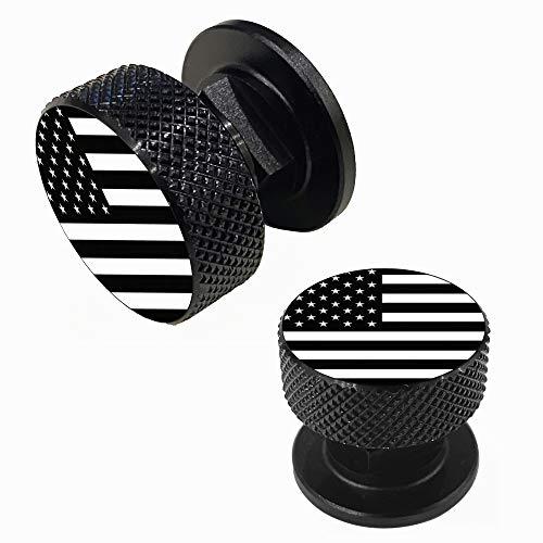 Welding Hood Pipeliner Helmet Fasteners-1Pair Black American USA Flag Pattern Aluminum Helmet Pipeliner Headgear Replacement Parts Accessories Screws Flip Hood, Anti-rust and durable (black-zw)