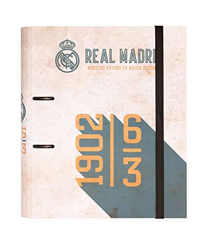 Carpeta 2 anillas troquelada premium Real Madrid vintage collection
