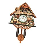 non-brand Reloj de Pared Antiguo de Cuco Reloj de Madera Dec
