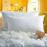 White goose feather down pillows with 100% cotton cover to provide the perfect nights rest for anyone and everyone and Wedding collection and Also Usable in pregnancy Filling :- 60% White Goose Feather, 40% White Goose Down Size and Package :- One St...