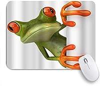 TARTINY ゲーミング マウスパッド,壁の後ろに隠れているかわいい磁器のカエル,マウスパッド レーザー&光学マウス対応 マウスパッド おしゃれ ゲームおよびオフィス用 滑り止め 防水 PC ラップトップ