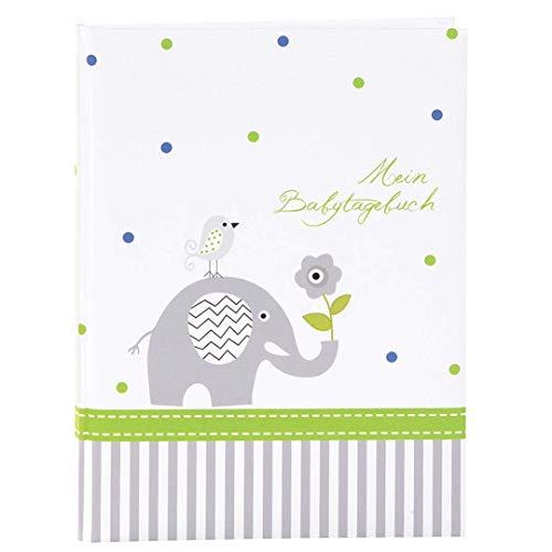 Goldbuch Babytagebuch, Babyworld Wal, 21 x 28 cm, 44 illustrierte Seiten, Kunstdruck laminiert, Weiß/Blau, 11329