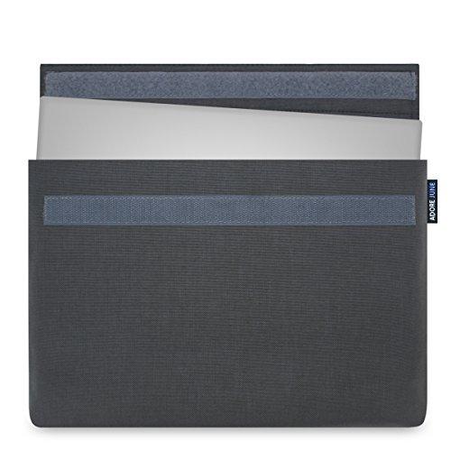 Adore June 15  Custodia speciale per XPS 15 Non-Touch & Touch 2-in-1 2018 2017 2015 (Modelli: Dell XPS 15 9570, 9575, 9560, 9550), [Serie Classic] L`Originale Cordura [Grigio Scuro]