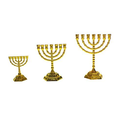 YKWYQ Kerzenleuchter Menorah Kerzenleuchter Chanukka Leuchter 7 Zweig Kerzenhalter (Color : Big)