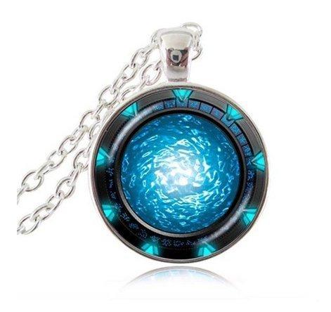 Stargate Portal Atlantis Halskette Star Space Jewelry Universum Halskette handgefertigt