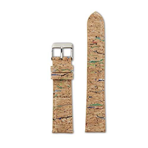 LAiMER Unisex Kork Uhrenarmbänder Mehrfarbig - nachhaltig - Wechselband - Ersatzband - Dornschleiße - 18mm, 20mm, 22mm - geeignet für Damen und Herren