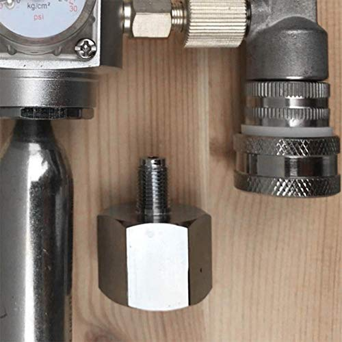 Omabeta Adaptador de Cerveza de CO2, Adaptador de Barril de aleación de Zinc, Adaptador de CO2, para Acuario