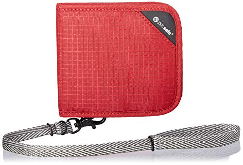 Pacsafe RFIDsafe V100 Bifold Wallet Goji Berry
