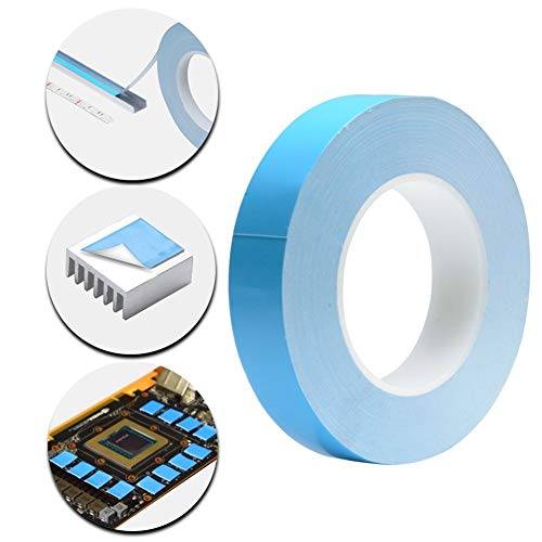 Thermal Adhesive Tape (40mmx10 Meters 0.3mm Thickness) Double Side Adhesive Thermal Conductive Tape for Heat Sink of LED Light,PC and More, Electrically Insulated,1 Reel Pack