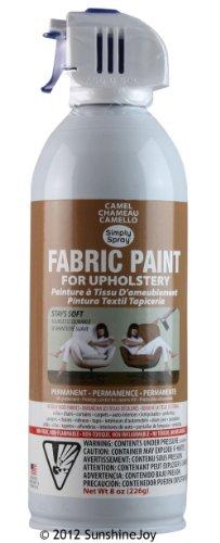 Simply Spray Upholstery Fabric Spray Paint 8 Oz. Can Camel