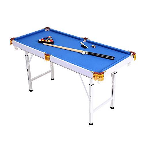 Mesa de billar YYX Plegables Ajustables Billar/Pool Juego Set Mesas for familias, niños y audlts - Incluye 2 Cues, 16 Bolas, Cepillo y el triángulo (Size : Length 140 cm)