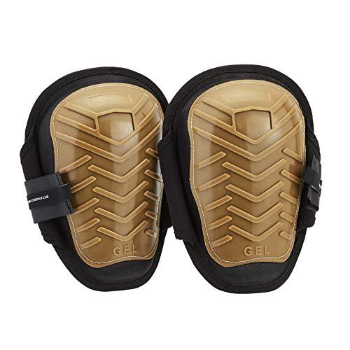 AmazonCommercial Gripper Gel Knee Pads, 10.5 in, Brown, 1 pair