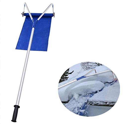 Great Deal! YUN Snow Rakes Roof Snow Removal Tool 20 Ft with Adjustable Telescopic Handle Roof Snow ...