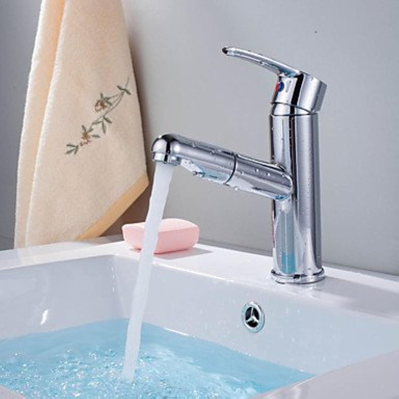 Miaoge modernes Chrom-Finish Pull Out Single Griff Waschbecken Wasserhahn
