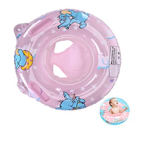 Vohoney Schwimmring Baby Schwimmreifen Schwimmtrainer Aufblasbarer Swimming Ring PVC Baby Schwimmhilfe Spielzeug Kleinkinder 6 Monate bis 36 Monate Babys Kleinkinder (Rosa Baby Schwimmring)