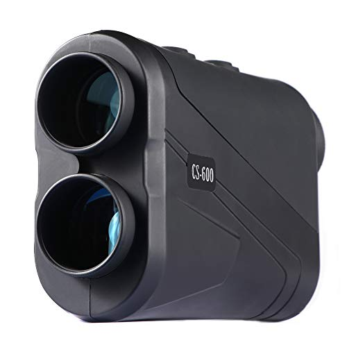 MOESAPU Laser Golf Range Finder for Hunting 5-650 Yards 5 Scan Modes with Flag Pole Locking 7X Magnification Tournament Legal Golf Rangefinder with Battery (CS 600M)