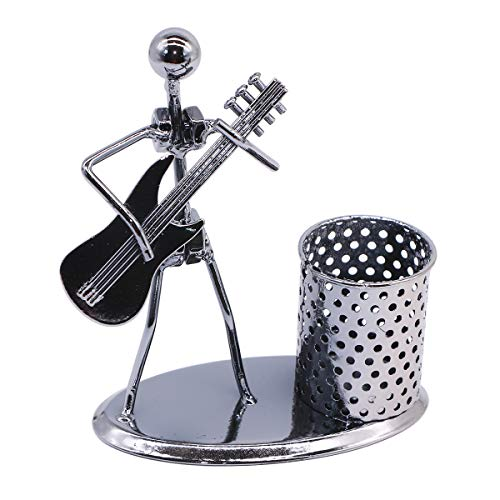 Guitar Pen Holder Creative Desk Accessories Multipurpose Stand Metal Pencil Holder Organizer For Gifts Kids Students and Office Stationary