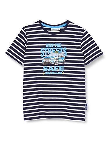 Salt & Pepper Jungen 03112155 T-Shirt, Blau (Navy 498), 116 (Herstellergröße: 116/122)