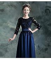 ドレス パーティードレス ウェディングドレス カラードレス ステージドレス マーメイドドレス カクテルドレス フィッシュテール Aライン レディース aruka_egidio L ネイビー