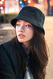 Korean Version of The New Simple Beautiful Lin Yun Same Style Black hat Cap Bucket Hats Women Girls Lady Autumn and Winter...