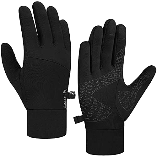 Anqier Touchscreen Handschuhe Sporthandschuhe Herren Damen Rutschfest Winddicht Fahrradhandschuhe Winterhandschuhe für Radfahren Laufen Fahren Joggen Skifahren