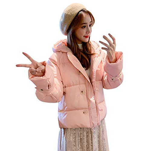 YSFWL Damen Baumwolljacke Baumwolle Kapuze Pullover Warme Outdoorjacke Kurzen Winterparka Abschnitt Cardigan Verdickung Winter Mantel Jacke...