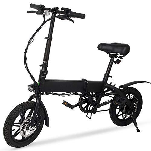 "MEGAWHEELS M Elektro-Fahrrad - 14\""Ultraleichte Klapp City Ebike, 3 Modi, 15 Meilen Reichweite"