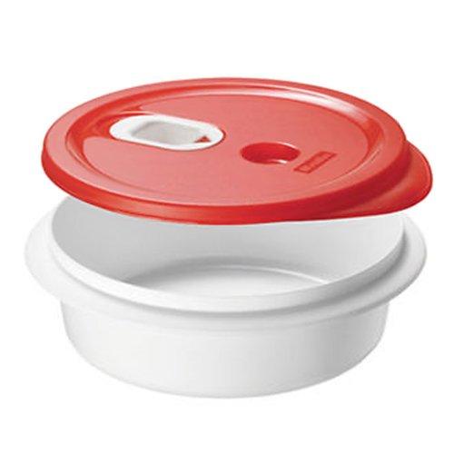"""Rotho Mikrowellengeschirr \""""Micro Clever\"""" - tiefer Teller mit Deckel - auslaufsicher, geeignet für flüssige Speisen wie Suppe / Soßen, 1 L Inhalt - spülmaschinenfest - BPA-frei"""