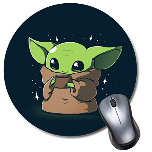 Round Gaming Mouse Pad Baby Child, Computer Mousepad for Laptop and Desktop, Cute Funny Mouse Mat for Kid and Office Gift