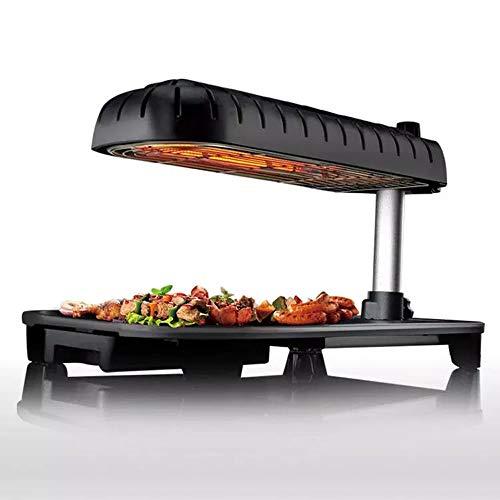 LOVE-HOME Grill, tafelparty grill, 3D grill elektrische tapanyaki, tafelgrill non-stick braadpan met regelbare temperatuur BBQ Hot Plate Grill - Indoor Outdoor 1390W