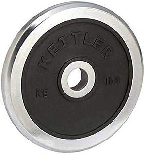 Kettler KTLR7371-660 20 kg Weight Plate, Black/Silver