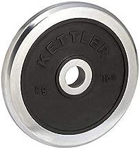 Kettler KTLR7371-650 Rubber Weight Disk Chrome 15Kg, Black/Silver
