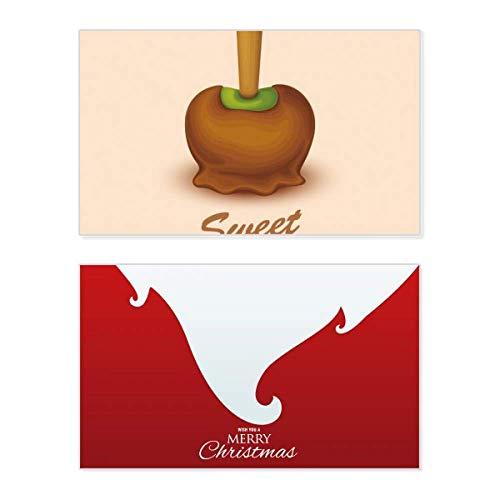 Weihnachtskarte mit braunem und grünem Schokoladen-Eis
