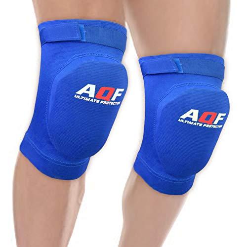 AQF Knieschoner Paar Kompression Protektor Knieorthese Schutzhüllen Elastisches Schild Knieschützer fur Herren & Damen