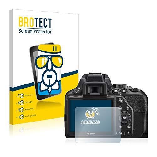BROTECT Protector Pantalla Cristal Compatible con Nikon D3500 Protector Pantalla Vidrio - Dureza Extrema, Anti-Huellas, AirGlass