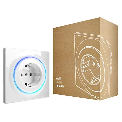 FIBARO Walli Outlet F / Z-Wave Plus Intelligente Steckdose Typ F, FGWOF-001