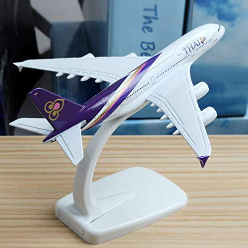 FJCY 16Cm Thai Airline A380 Vliegtuig Model Legering Model Luchtvaart Model Vliegtuigen Thailand Luchtwegen A380 Vliegtuig Model Stand Ambacht 1:400