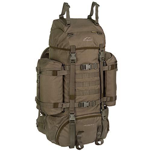 Wisport Bug Out Bag 75L für Damen & Herren + inkl. E-Book | Prepper Rucksack Frauen Männer | BOB Backpack | Go Bag | Fluchtrucksack groß taktisch | Cordura | Reindeer RAL-7013