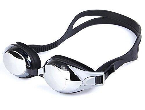 TTYY Taucherbrille HD Anti-Nebel Bequeme wasserdichte Schwimmen Wettbewerb Myopie Brille 200-600 Grad , 300