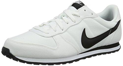 Nike Herren Genicco Canvas Turnschuhe, Blanco (White/Black-White), 39 EU