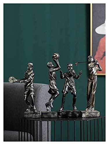 WQQLQX Estatuilla Golf Deportes Figura Escultura Estatua Baloncesto decoración Oficina Sala de Estar gabinete de TV decoración Accesorios Regalos artesanía estatuillas Estatua
