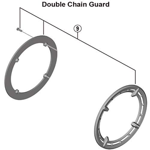 Shimano Spares FC-E6100 38T - Cubierta de anillo de doble cadena y perno de fijación