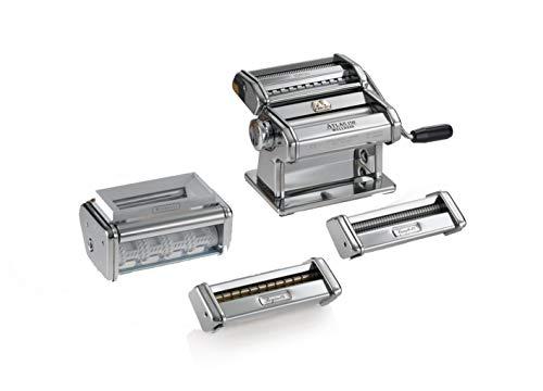 Marcato 0801531200 Nudelmaschine Multipast, Edelstahl, silber, 5,5 x 32 x 21,5 cm