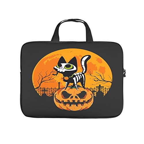 Laptop Bag Cute Cat Pumkin Funny Moon Halloween Dust-proof Comfortable -HolloweenComputer Sleeve Cover Compatible with 13-15.6 inch Computer white 13 zoll