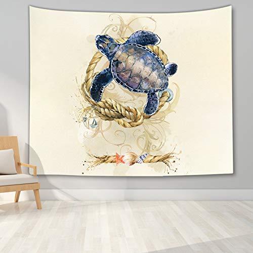 N/A Tapices 3D Impresión Tapiz del Mundo Submarino Tapiz Colgante de Pared Tortuga tiburón delfín Tapiz de Pared Impreso en 3D para Sala de Estar Dormitorio Dormitorio Regalos de decoración del hogar