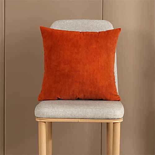 SterneMond Juego de 2 fundas de cojín para sofá de exterior, decorativas, de terciopelo, de un solo color, muy suave, 40 x 40 cm, color rojo positivo