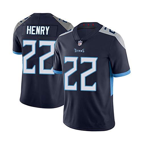 QLGRXWL Camiseta De Fútbol NFL,Camiseta De Baloncesto Tennessee Titans 22,Antiarrugas Transpirable De Secado Rápido,Dark Blue,XXL