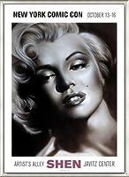ポスター シェン マリリン シルバー 額装品 アルミ製ベーシックフレーム(ライトブロンズ)