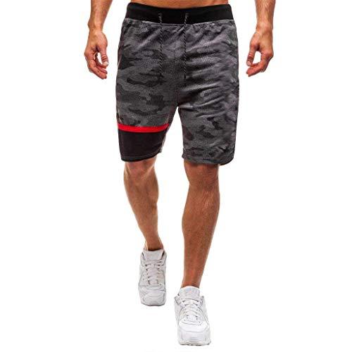 Short Homme Short pour Homme Camouflage Sport Jogging et d'entraînement Fitness Pantalon Court Jogging Pantalon Bermuda Pochette de Rangement pour Fermeture Éclair Trainingshose