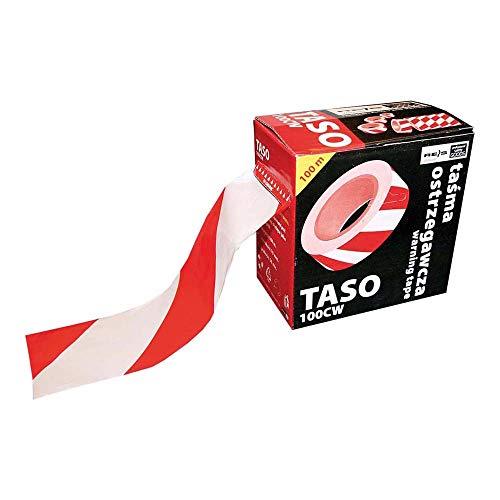 Reis TASO100CW - Nastro segnaletico, colore: Rosso/Bianco